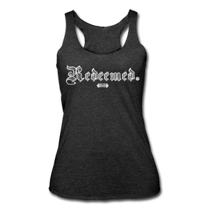 Open image in slideshow, Redeemed Racerback Tank - heather black