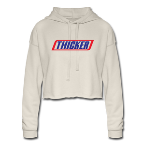 THICKER Cropped Hoodie - dust