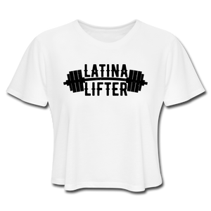 Open image in slideshow, Latina Lifter Crop Top - white