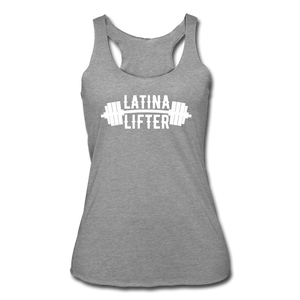 Open image in slideshow, Latina Lifter Racerback Tank - heather gray