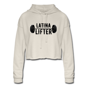 Open image in slideshow, Latina Lifter Cropped Hoodie - dust