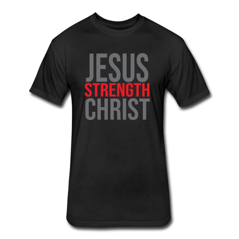 Strength Fitted T-Shirt GRY - black