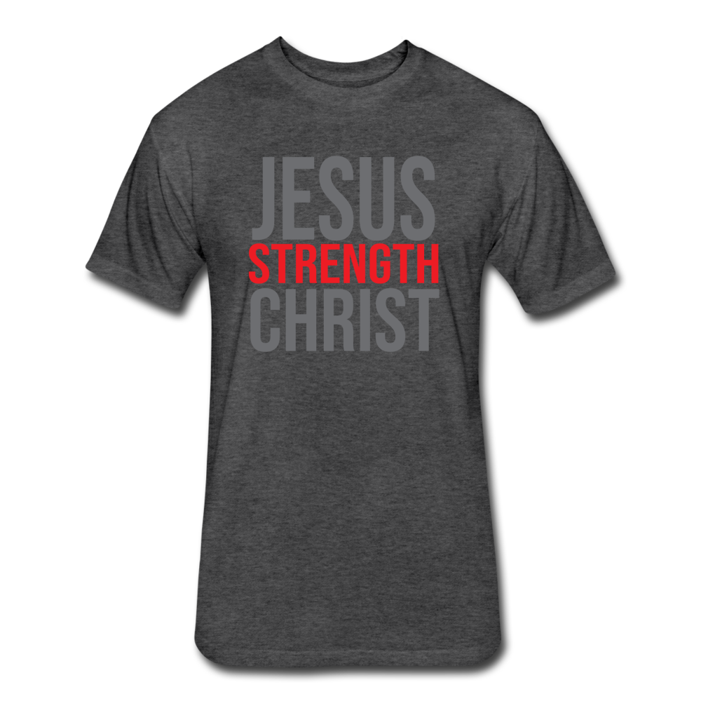 Strength Fitted T-Shirt GRY - heather black