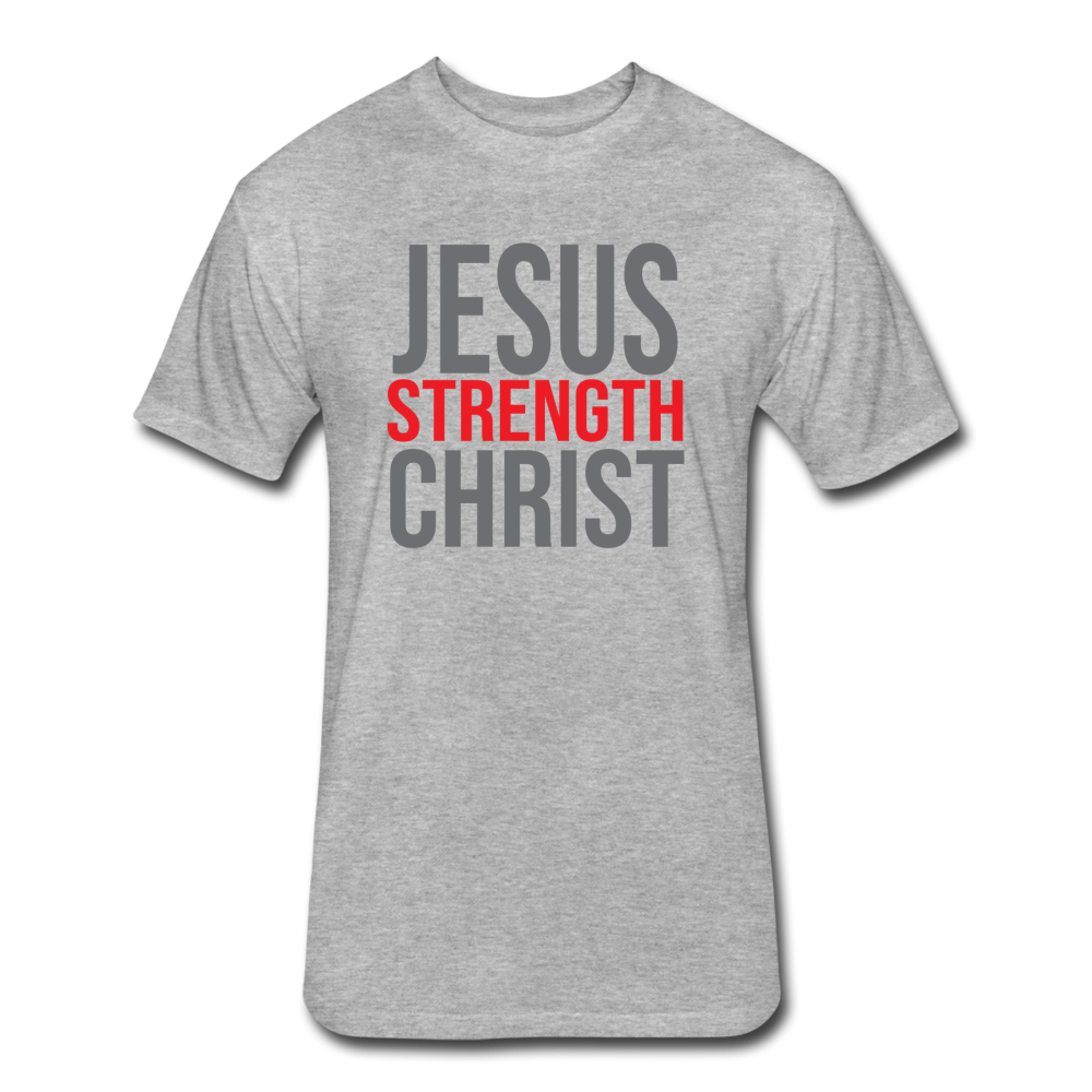 Strength Fitted T-Shirt GRY - heather gray