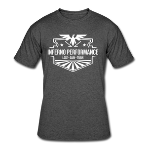 Open image in slideshow, Inferno Performance Fitted T-Shirt - heather black
