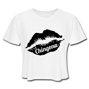 Chingona Crop Top White - white