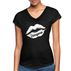 Chingona Black V-Neck - black