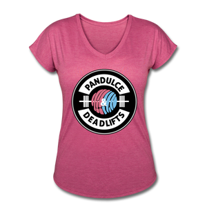 Pan Dulce V-Neck T-Shirt - heather raspberry