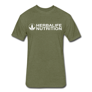 Open image in slideshow, Men's Fitted Herbalife T-Shirt - heather military green