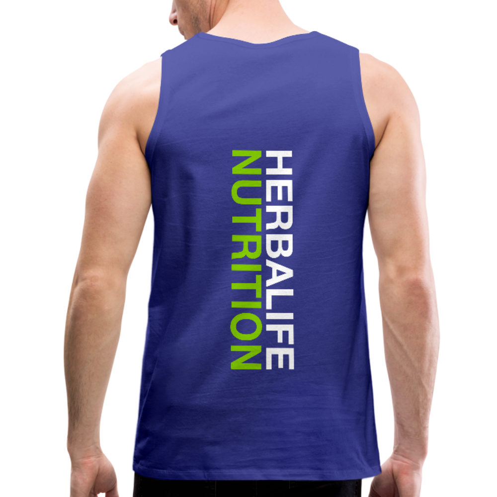 Men's Herbalife 24 Premium Tank Blk - royal blue