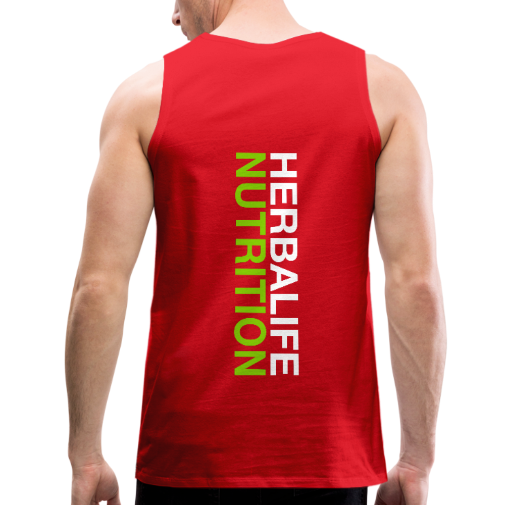 Men's Herbalife 24 Premium Tank Blk - red