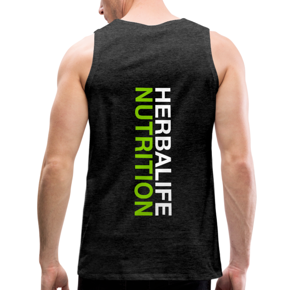 Men's Herbalife 24 Premium Tank Blk - charcoal gray