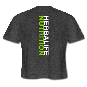 Women's Herbalife 24 Cropped T-Shirt - deep heather
