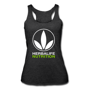 Open image in slideshow, Women's Herbalife Logo White Racerback Tank - heather black