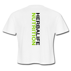 Women's Herbalife 24 Cropped T-Shirt Blk - white
