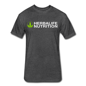 Open image in slideshow, Men's Fitted Herbalife Green Logo T-Shirt - heather black