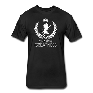 Chasing Greatness Next Level Fitted Tee - black