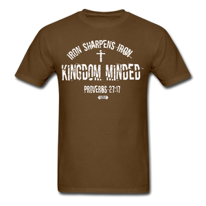 Kingdom Minded ALL WHITE Tee - brown