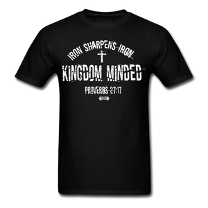 Kingdom Minded ALL WHITE Tee - black