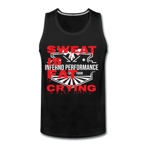 Fat Crying Tank Top - black