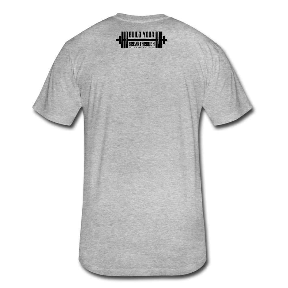 Born Sinner Fitted T-Shirt - heather gray