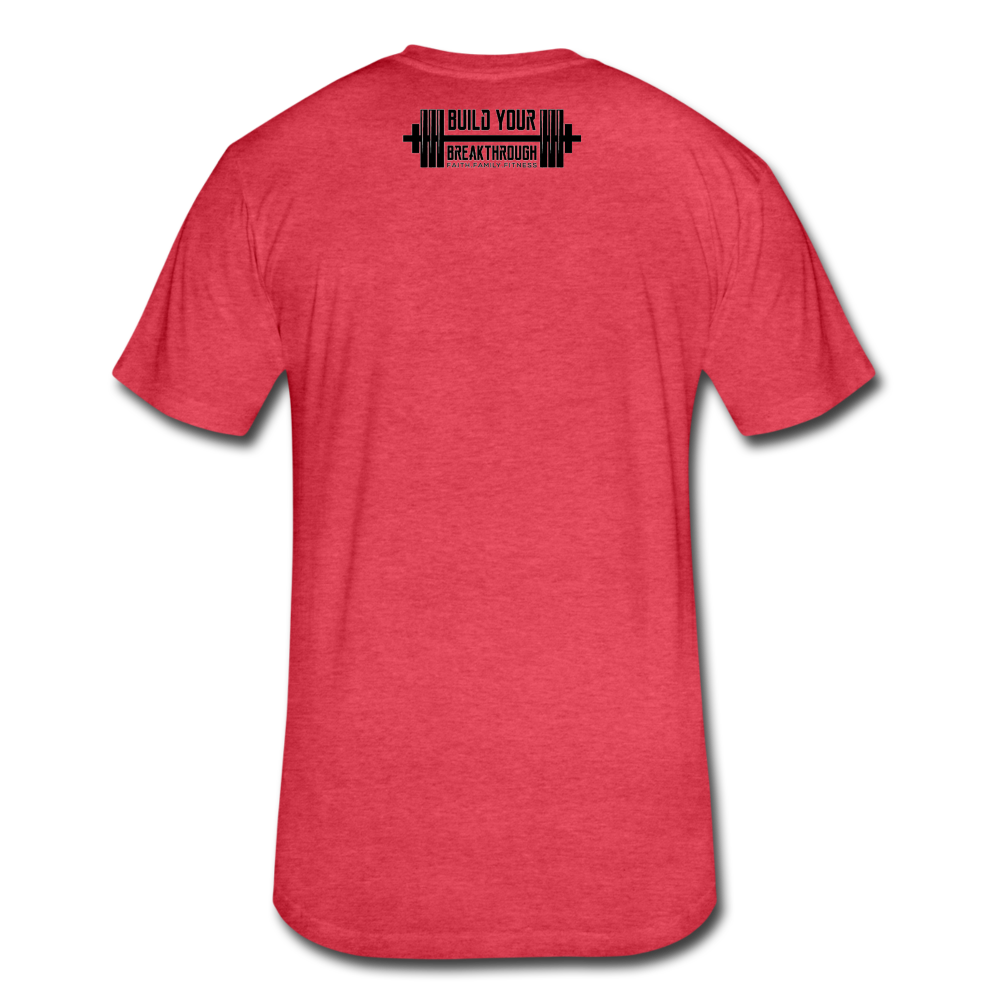 Born Sinner Fitted T-Shirt - heather red