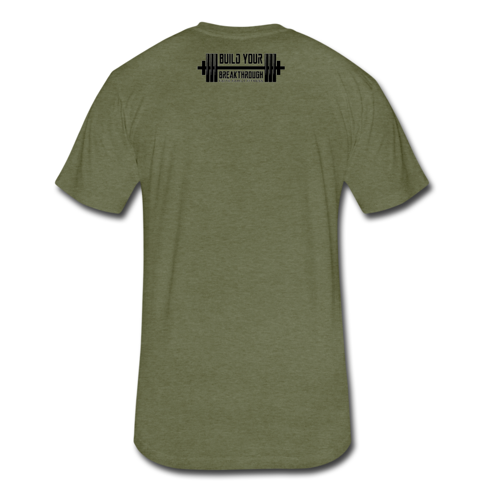 Born Sinner Fitted T-Shirt - heather military green