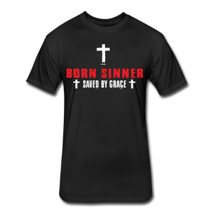 Born Sinner Fitted T-Shirt (RED) - black
