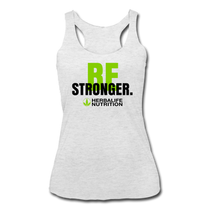 Women's Be Stronger Racerback Tank Top - heather white