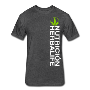 Open image in slideshow, Nutricion Herbalife 3 Fitted T-Shirt - heather black