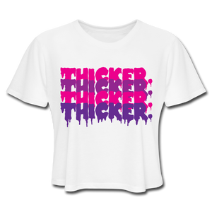 Thicker Ice Cream Cropped T-Shirt - white