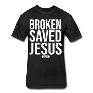 Broken Saved Fitted T-Shirt - black