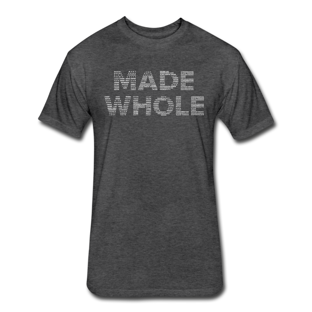 Made Whole Mens Fitted T-Shirt - heather black