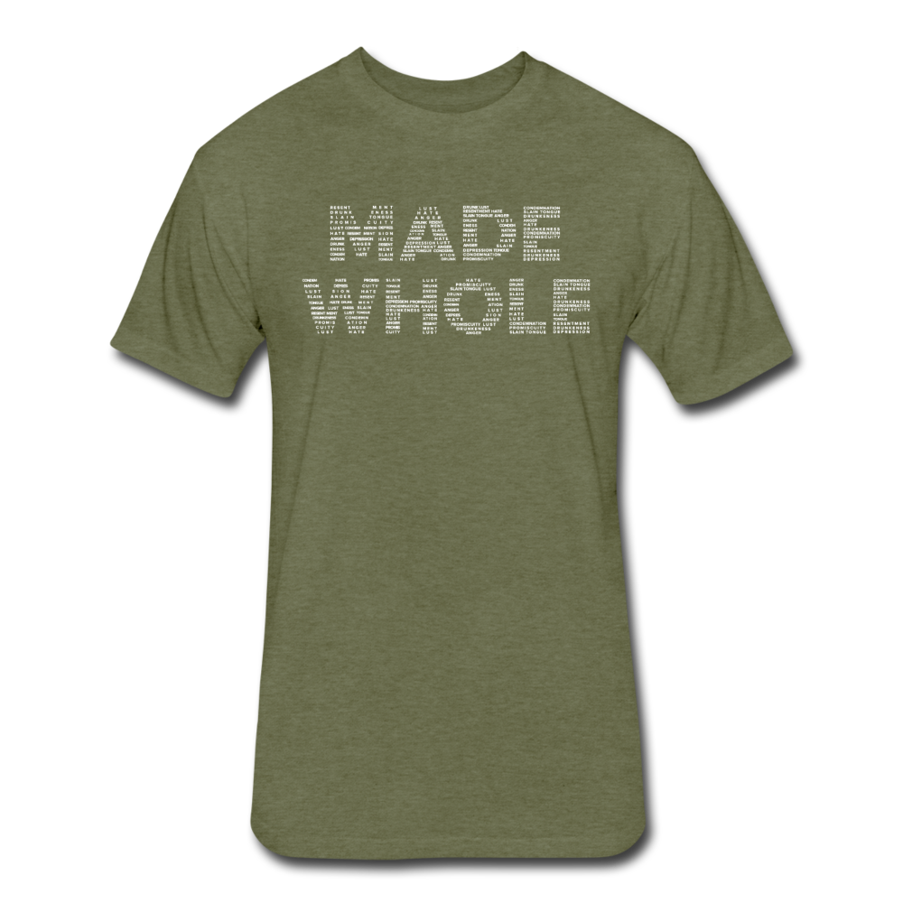 Made Whole Mens Fitted T-Shirt - heather military green