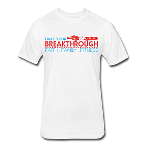 Open image in slideshow, Breakthrough Chains Next Level Fitted T-Shirt - white