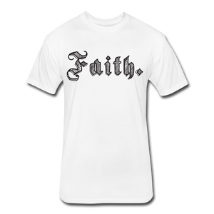 Men's Faith Next Level Fitted T-Shirt - white