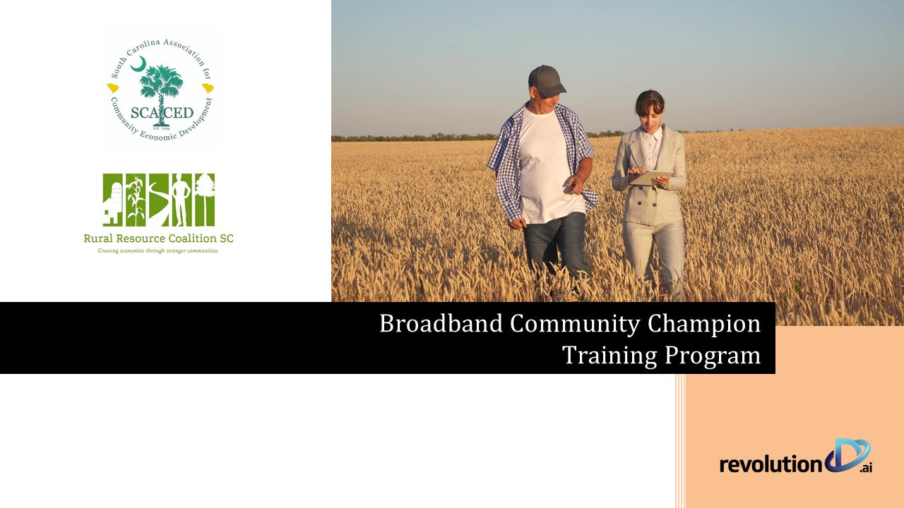 Broadband Community Champion Training Manual (SCACED)