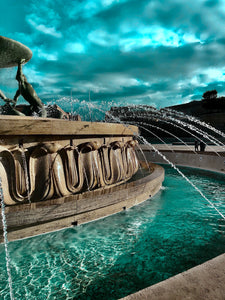 Triton's Fountain in turquoise