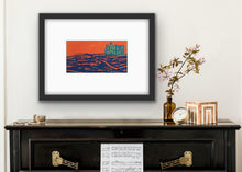 Load image into Gallery viewer, Palace on the hill - orange and blue