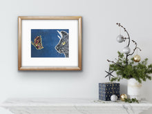 Load image into Gallery viewer, Butterfly Hunter - dark blue