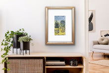 Load image into Gallery viewer, Cactus - potted plants II - pale blue & yellow