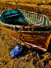 Load image into Gallery viewer, Blue & orange fishing boat