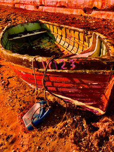 Spicy orange fishing boat