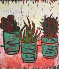 Load image into Gallery viewer, Cactus - potted plants III - pink & yellow