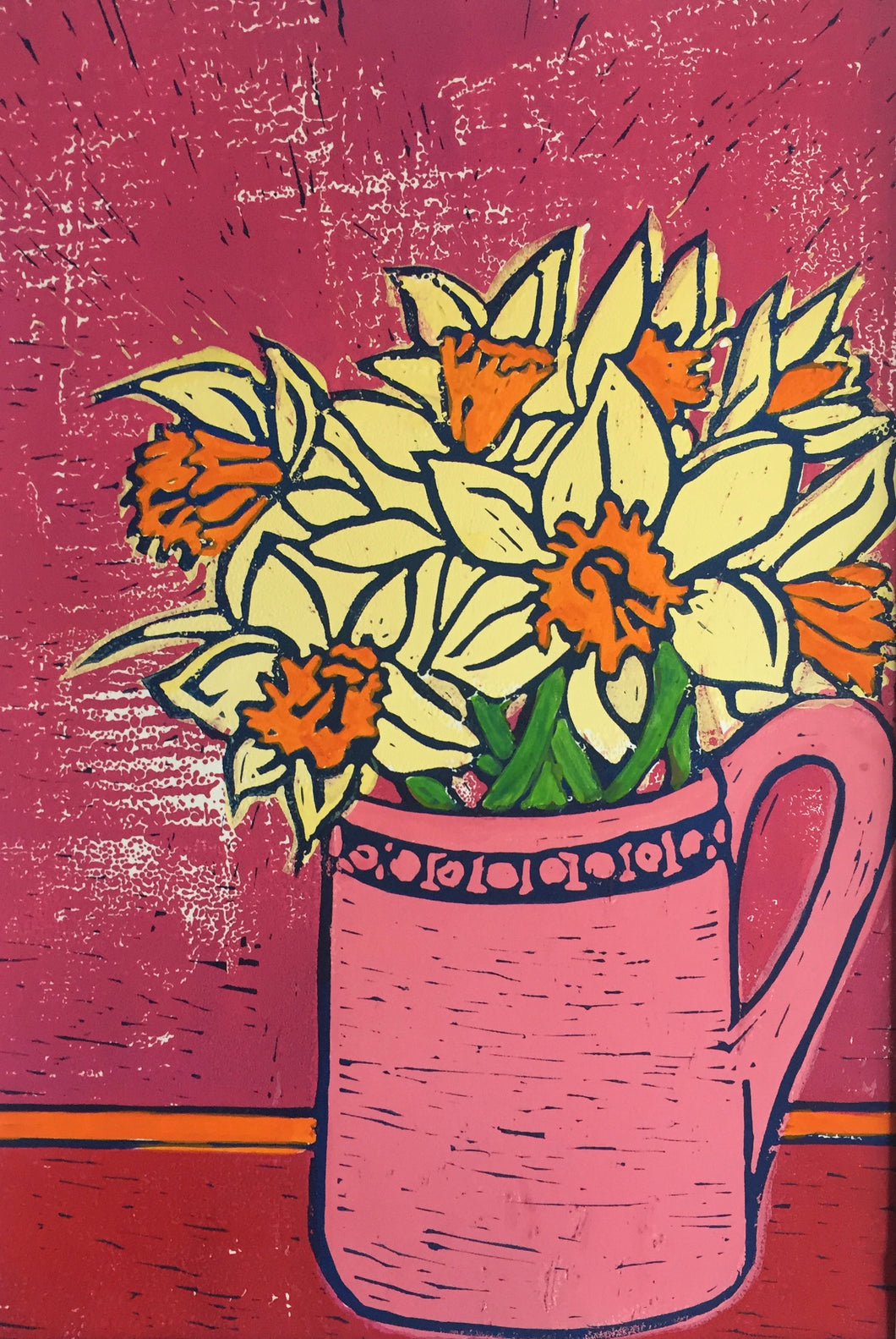 Daffodils - pink and orange