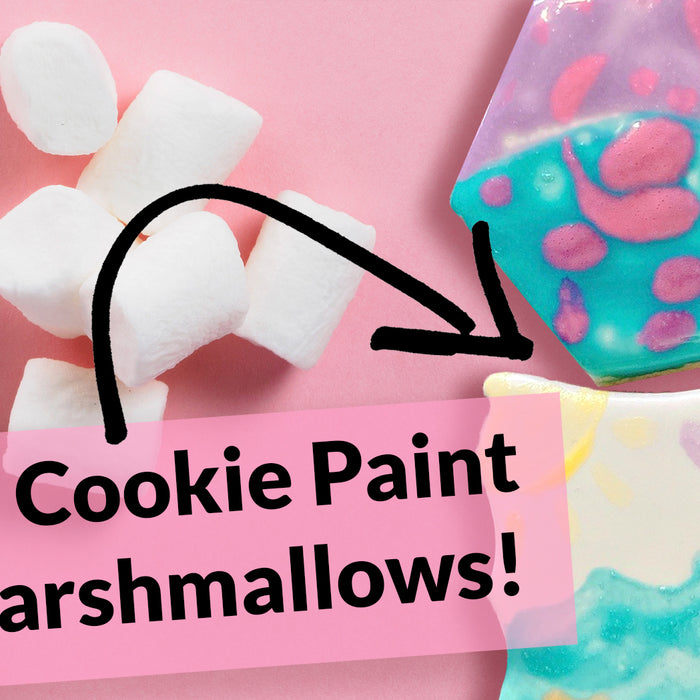 Make DIY Cookie Paint with Marshmallows - Sanity with Sarah