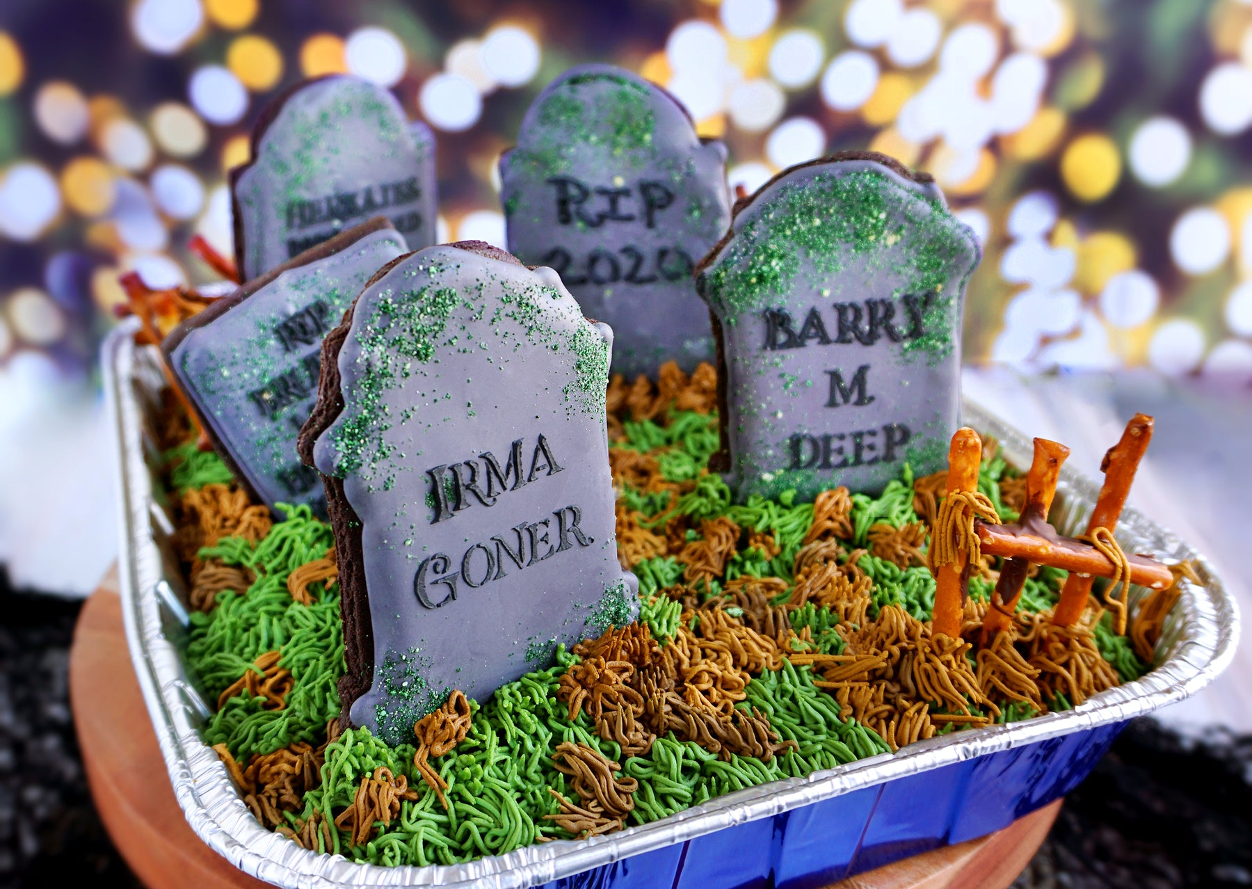 How to Make Halloween Graveyard Brownies