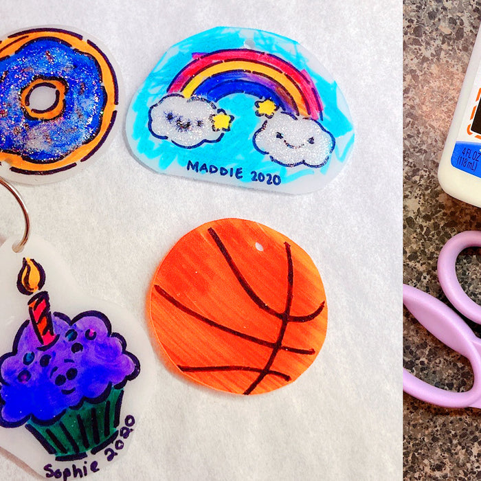 Sanity with Sarah: Use Stencils to Make Shrinky Dink Keychains