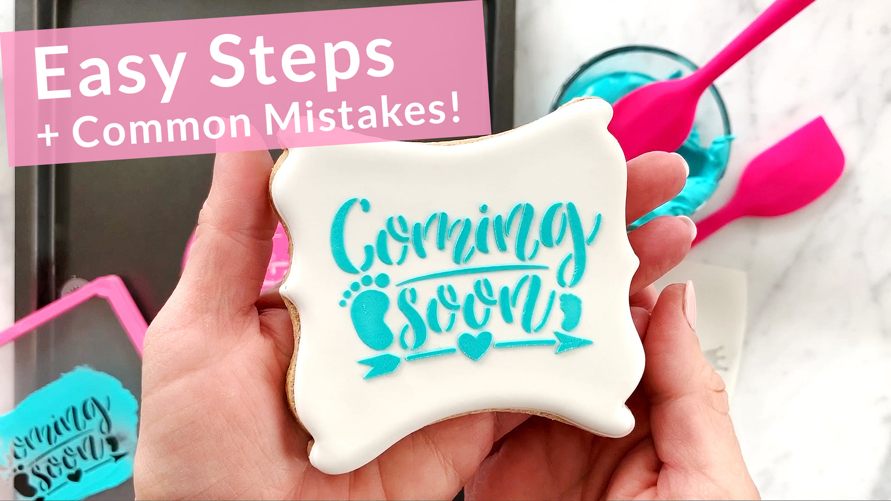 How to Stencil a Cookie with Royal Icing - Video Tutorial!