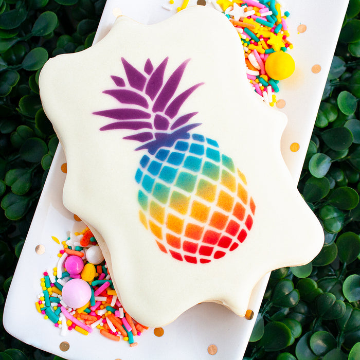Stenciling a Cookie with Royal Icing